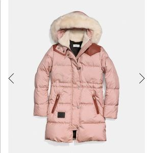 Shearling Puffer Coat, S